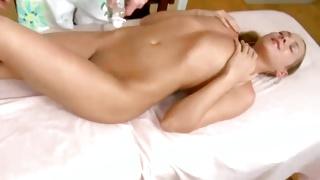 Slut is taking pleasure of the boobs rubbing by a fellow