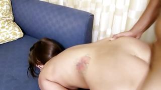 Furious slut is riding on the kinky big hard weiner