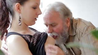 Awe-inspiring brunette girl is fucked by a heavy knob