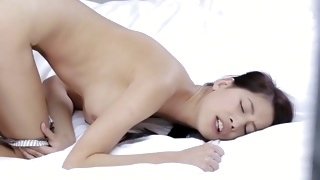 Bent over vulgar bitch is screaming while poked doggy style