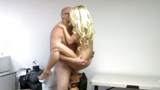 Two playful babes are abusing this one horny guy