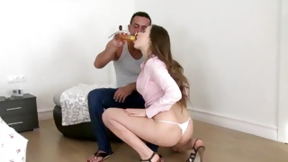 Teen whore is poked deep from behind