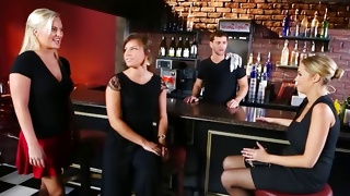 Bitches came in the bar for having fun