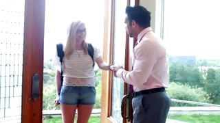 Marvelous beauty welcomed by indecent exotic guy