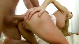 Watch on this blond skank gets hands on her wet cunt jabbed with marital-device