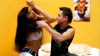 Brunette amazing wench is getting her mouth cavity stuffed with penis