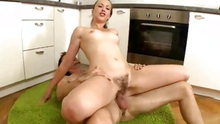 Watch on this sweetie who is moaning overall the doggy style shag