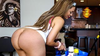 Big Booty Latina Maid Gets PIPED