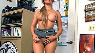 Big Booty Latina Gets Interviewed